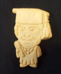 Image of an actual custom cookie of Jake