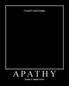 Apathy poster image