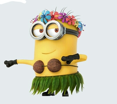 minion in a coconut bra