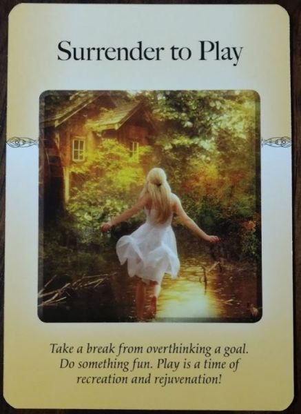 Image of Surrender to Play oracle card