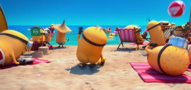naked minion on the beach