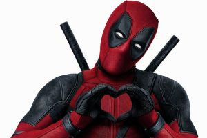 Marvel's Deadpool making heart hands