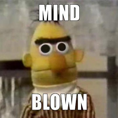Bert mind blown