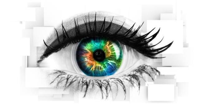multicolored iris
