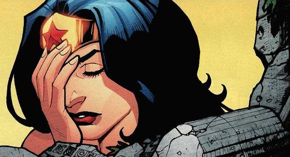 Wonder Woman Diana Facepalm DC