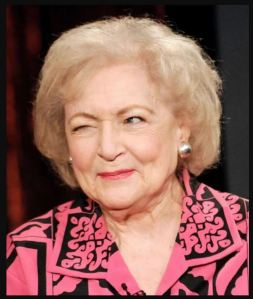 Betty White winking