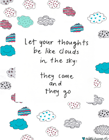thoughts like clouds