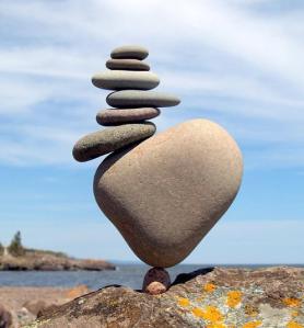 heart rock balance
