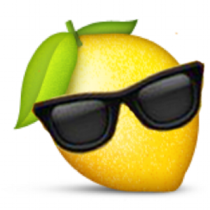 lemon wearing sunglasses