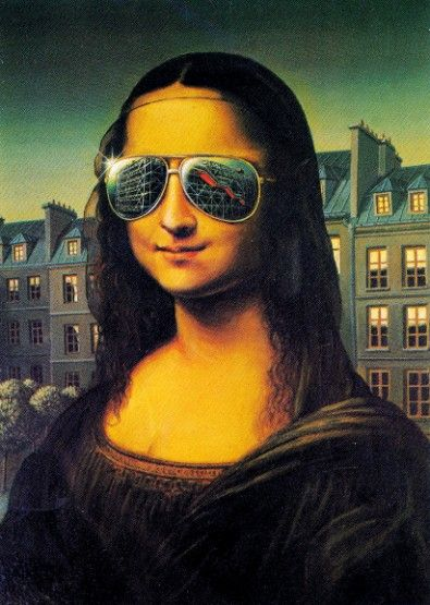 mona lisa with sunglasses