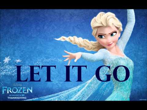 Classic Elsa from the movie Frozen with the words Let It Go