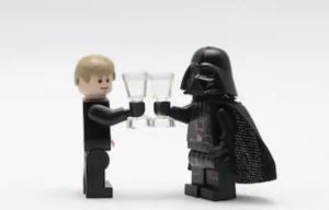 vader and skywalker lego
