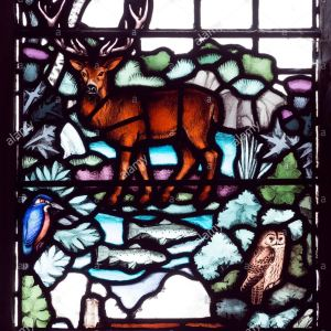 animal stained glass