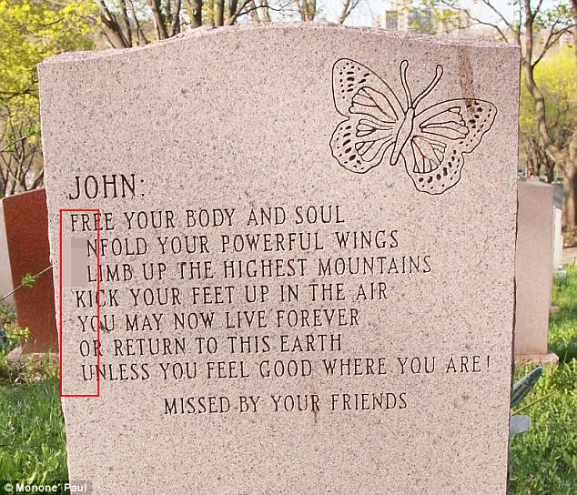 tombstone message