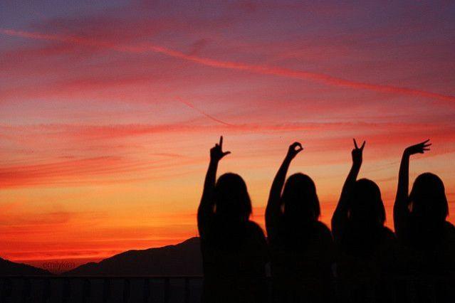 love hands sunset