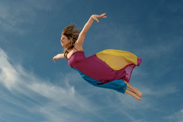 person flying
