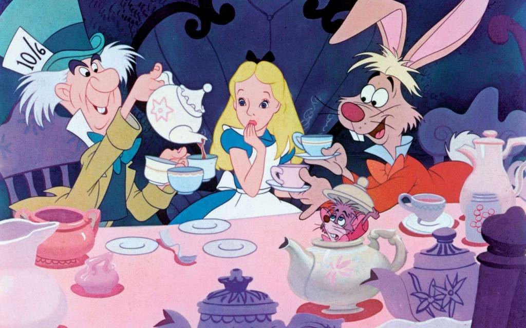 Alice in wonderland crazy crew at the table